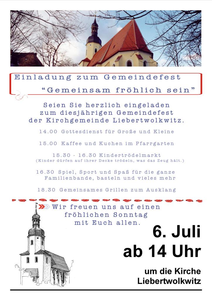 Plakat Gemeindefest 2014